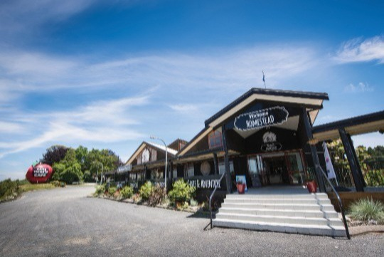 Waitomo Homestead is situated on State Highway 3, just 10 minutes from the famous Waitomo Glowworm Caves, with plenty of parking space, modern facilities, high quality food and beautiful garden views, it is no doubt that you will have an unforgettable Christmas celebration.  You can also add an optional Cave experience on the day if that appeals to you. The Waitomo Glowworm Caves with its world famous boat ride, or for the more adventurous, Black Water Rafting tours are available.