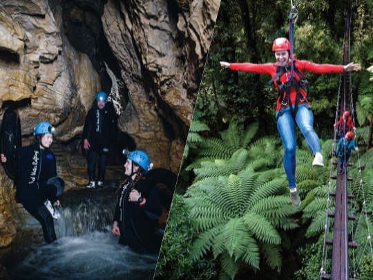 Swing from the trees with Rotorua Canopy Tours on the Original Canopy Tour and explore the subterranean underworld of Ruakuri Cave with the Legendary Black Water Rafting Co. with this great package. Get 15% off these eco-friendly tours when you book with us and do your part to help preserve our special environment.